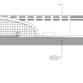 Aubretia Transit Center: West Elevation