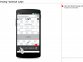 Selecting Facebook Login