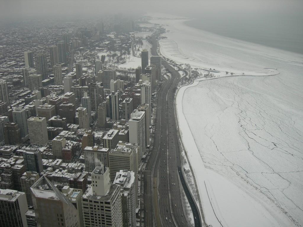 Lake Shore Drive in winter