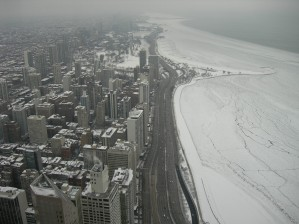 Lake Shore Drive in winter