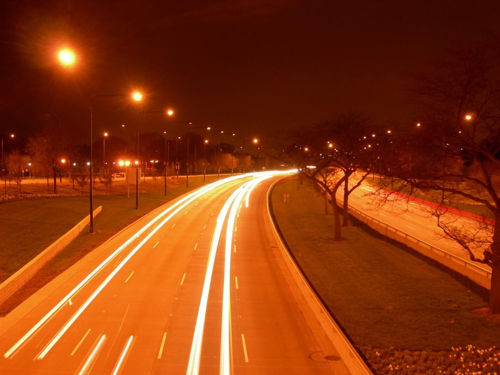Lake Shore Drive at night
