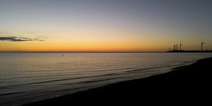 Woodlawn Beach State Park at sunset